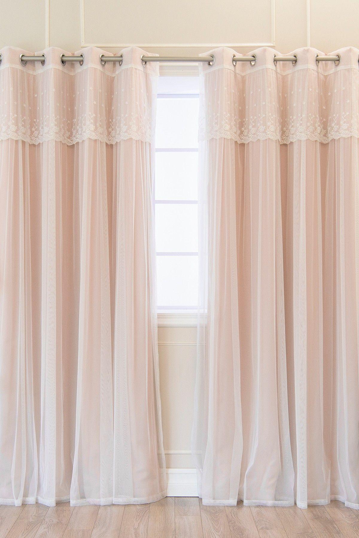 Best Home Fashion Inc Dusty Pink Mix Match Dimanche Lace