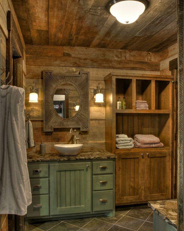 Small Rustic Bathroom Ideas: #woodworking #woodwork #handmade #wood #timber #homedecor