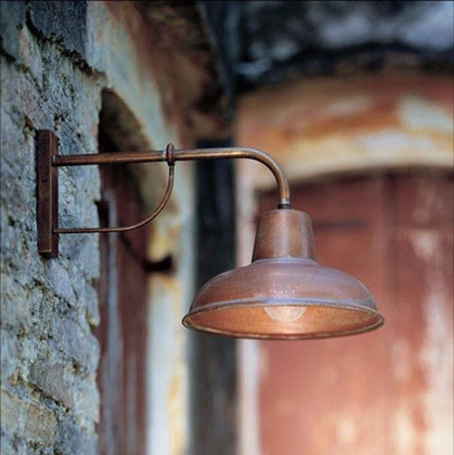 Antiqued Copper Exterior Wall Light Italian Designed And Made Lighting Collective Wall Lights Exterior Wall Light Garden Wall Lights
