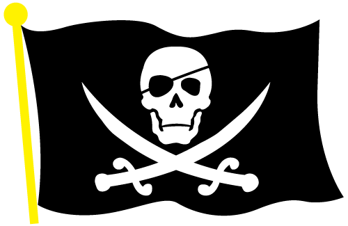 pirate clip art black skull and crossed bones clipart best rh pinterest com Pirate Treasure Chest Clip Art Pirate Skull and Crossbones