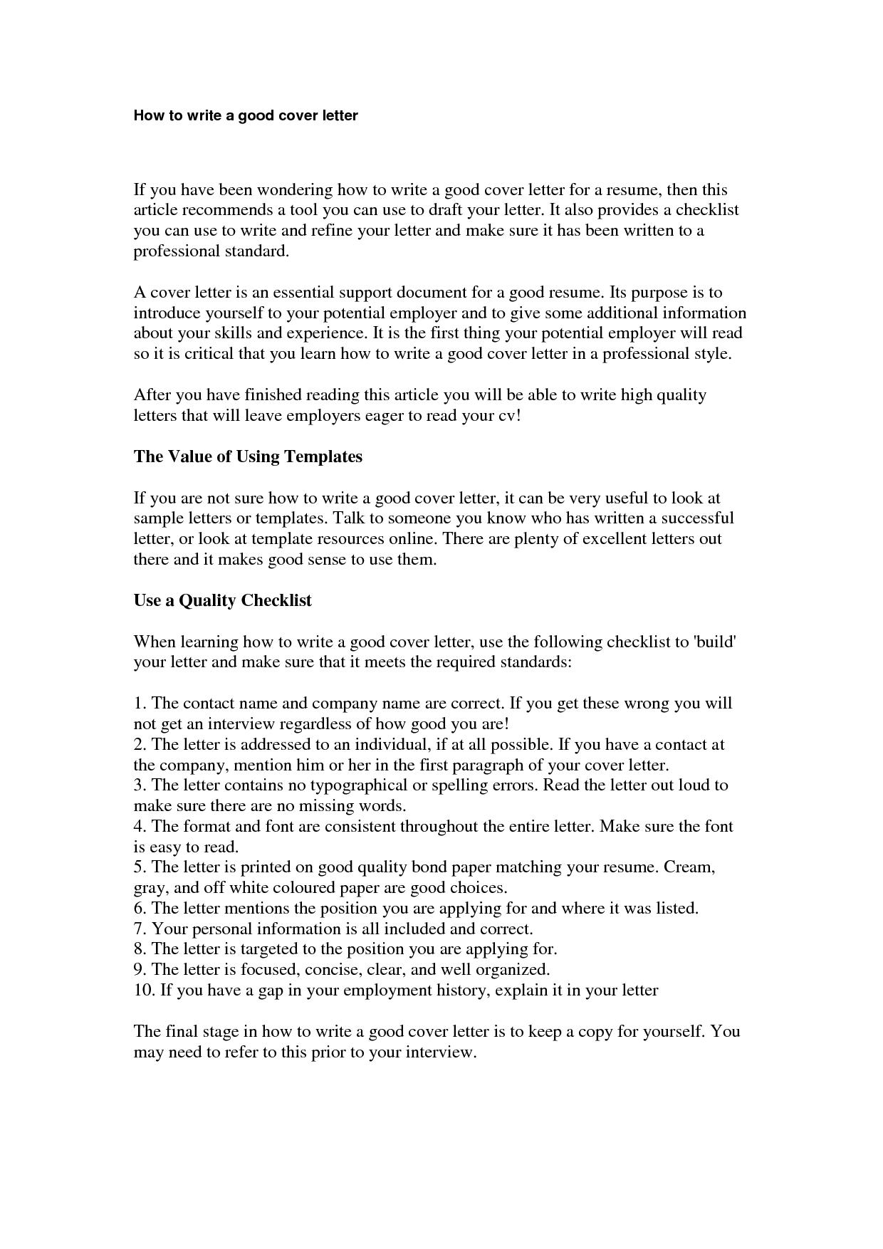 Cover Letter Template Reddit Cover letter for resume