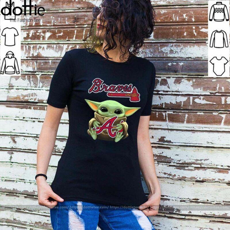 Hug Atlanta Braves Baby Yoda Shirt Atlanta Braves Baby Phillies Shirt Kids Shirts