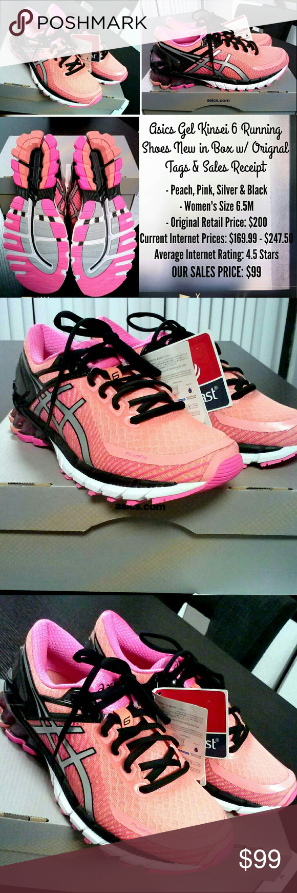 Chaussures de Box course Gel Asics Gel Kinsei 6 pour femme course , NWT New w/ tags & in Box ada887f - torquewrench.site