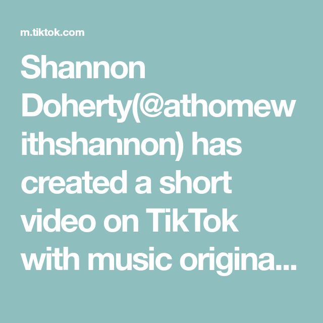 Shannon Doherty Athomewithshannon Has Created A Short Video On Tiktok With Music Original Sound How Was I Doing This Wron In 2021 God Loves You Music Hamilton Memes