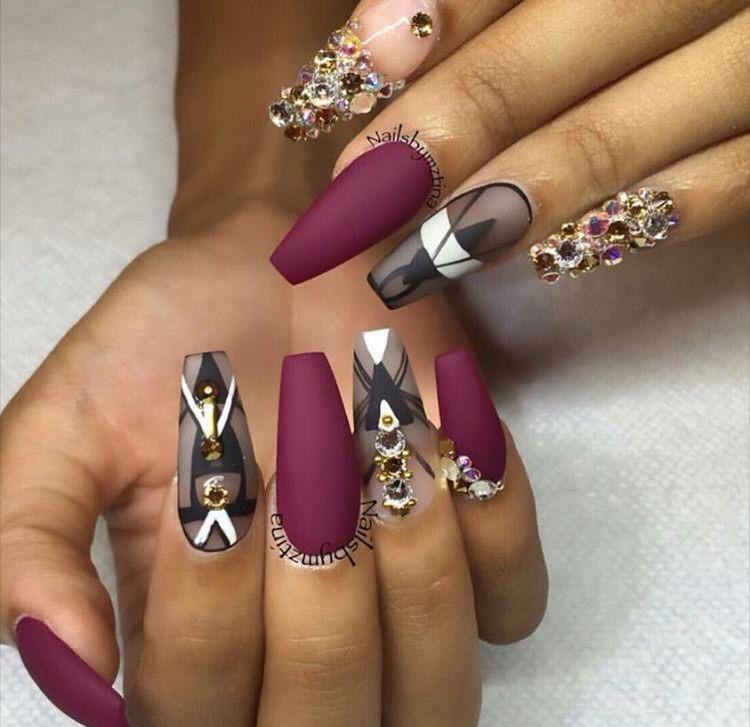 Cute burgundy Nails | Nails | Pinterest | Make up, Nail candy and ...