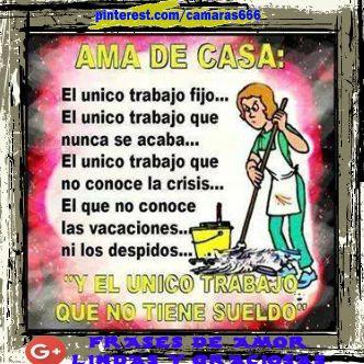 Frases Graciosas Ama De Casa Spanish Quotes Housewife