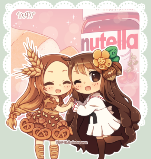 Cute Chibi Food Girls