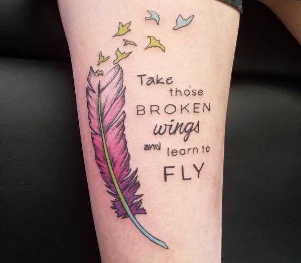 Tatuaż Piórko Znaczenie 24 Inspirujących Wzorów Pomysł