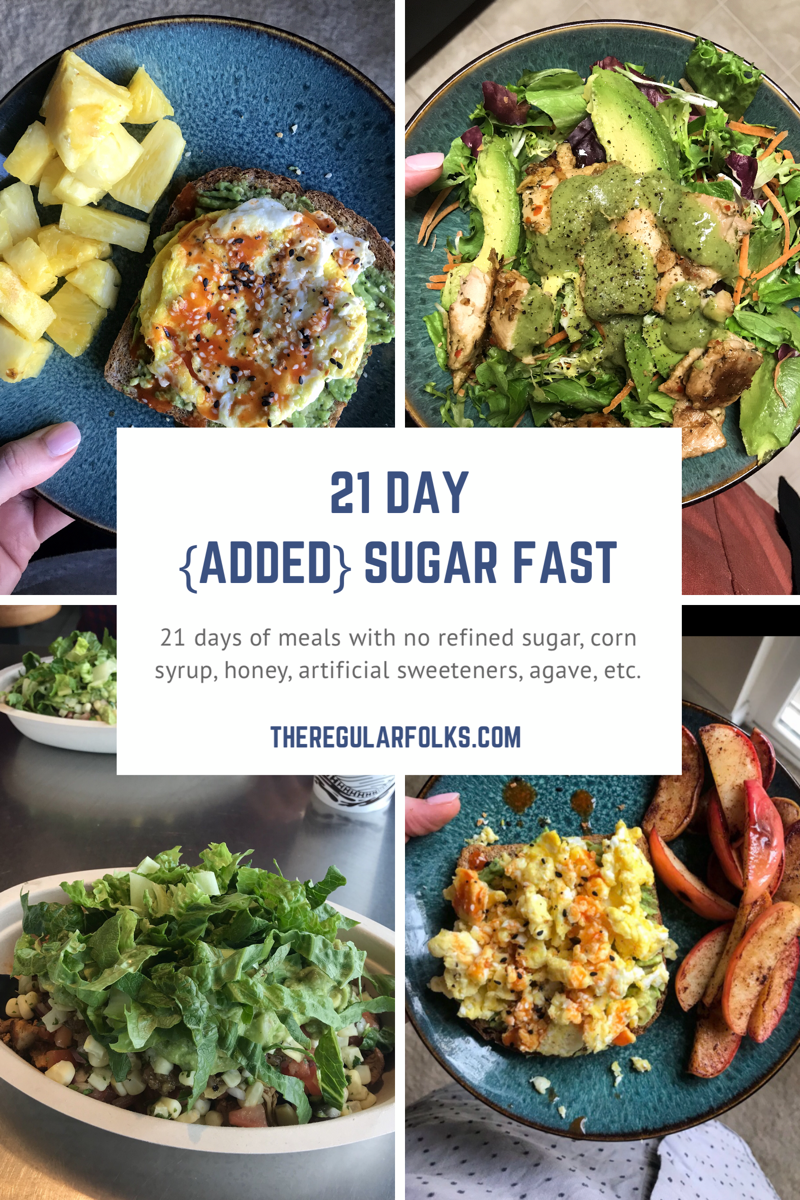 21 Day {Added} Sugar Fast- no refined sugar whole 30 keto lose weight diet