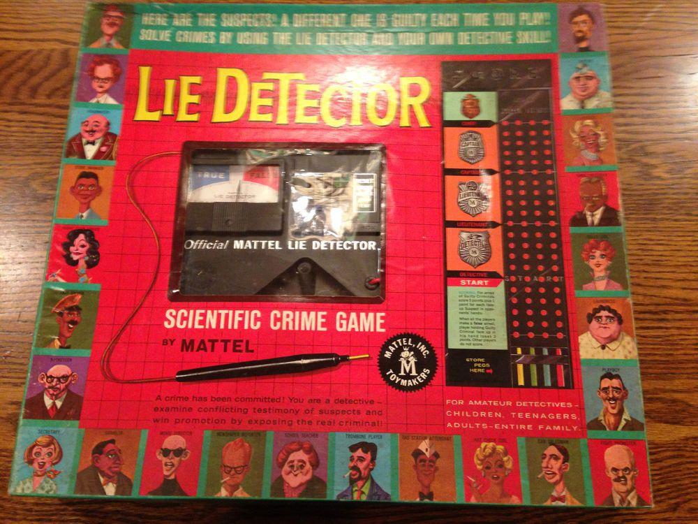 Lie Detector Vintage Board Game 1960 Great Shape Mattel Vintage