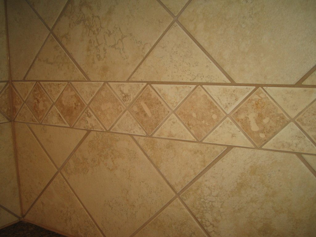 Backsplash Using Tile In Diamond Shapes Done By CarpetsPlus - Color tile bloomington in