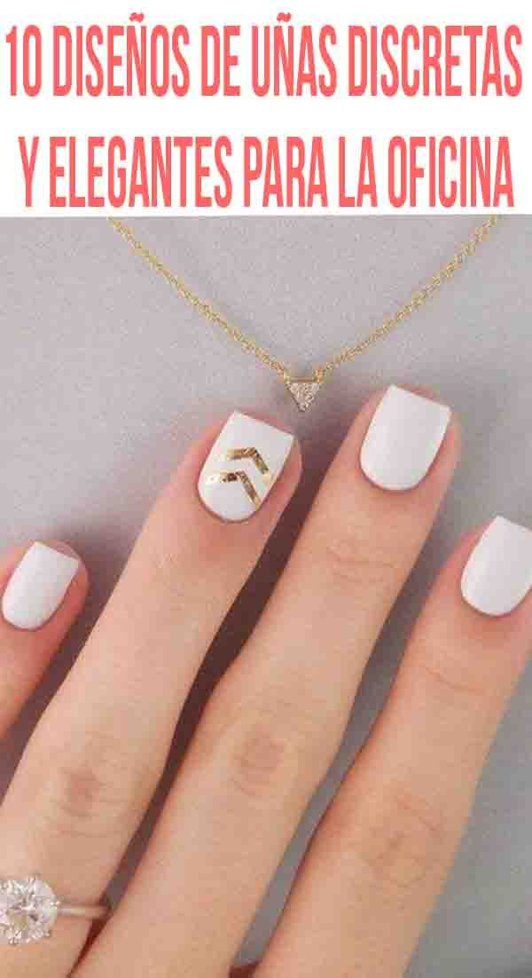 10 diseños de uñas discretas y elegantes para la oficina   Manicure ...