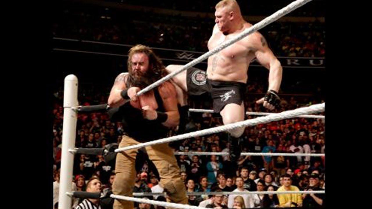 Wwe brock lesnar vs braun strowman full match 2017 wwe monday night raw highlights 5
