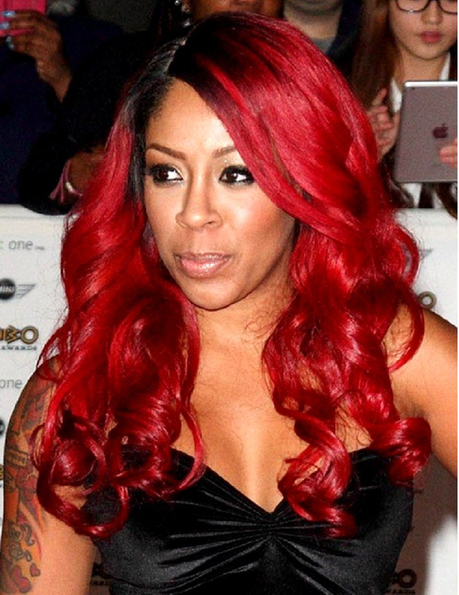 k. michelle – red – custom celebrity lace wig | african
