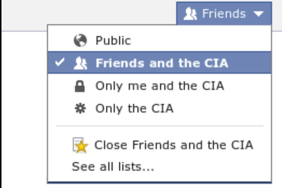 New settings in Facebook. o) Facebook settings