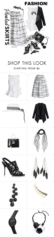 """Pleated Skirt"" by ragnh-mjos ❤ liked on Polyvore featuring Studio Nicholson, Chicwish, Topshop, Yves Saint Laurent, Charlotte Russe, Alinka, Ileana Makri and Oscar de la Renta"