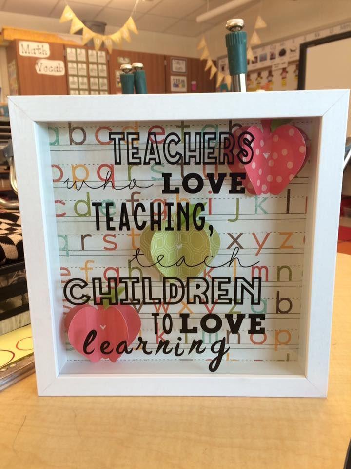 Teacher Shadow Box Cricut for the Classroom | Cricut for our ...