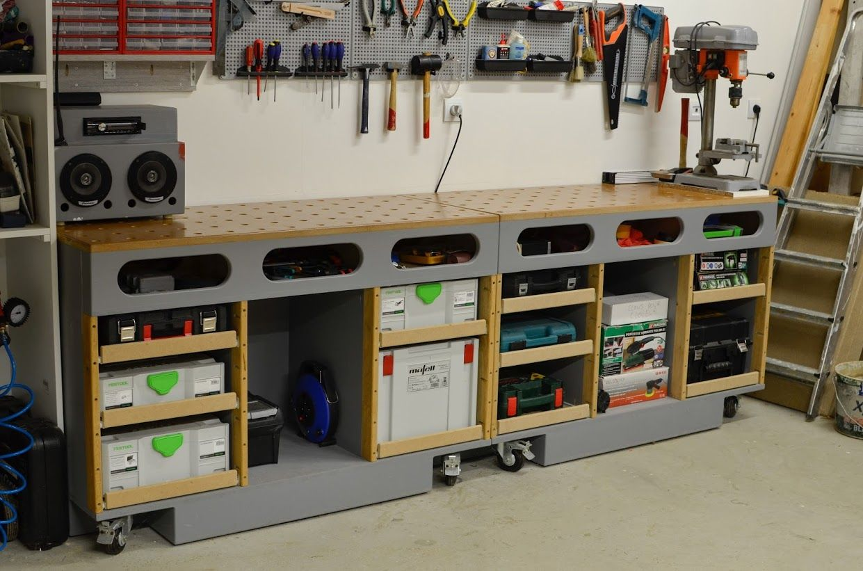Rangements Outils Garage Table D 39assemblage 43 Porte Systainer Diy Terminé