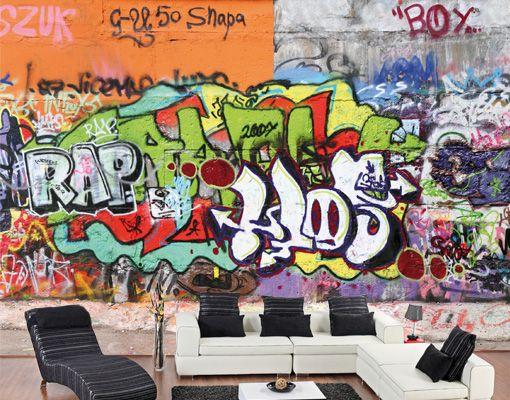 Rubenshop muurbehang model graffiti wall slaapkamer