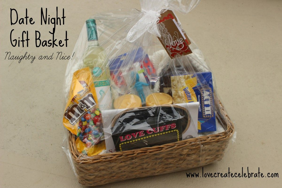 Wedding Date Picture Gift: Date Night Gift Basket