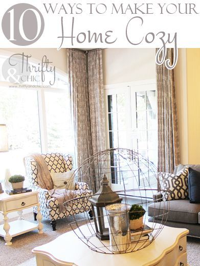 10 Ways To Make Your Home Cozy For The Winter is part of Dream home Cozy - A DIY Blog focused on Creative, Cheap, and Chic DIY Decorating Ideas and budget decor for your home
