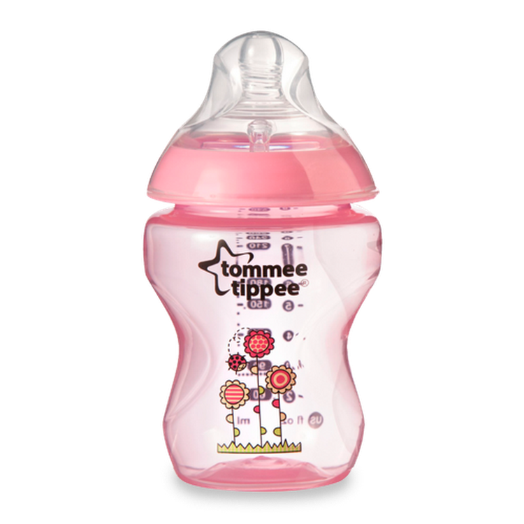 Tommee Tippee Pink Decorated Bottles Tommee Tippee Closer To Nature 260Ml9Oz Pink Bottle Bpa Free