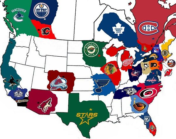 Map Of Nhl Arenas Mr Serious Presents 5 Reasons You Should Be Watching The Nhl Hockey Hockey Memes Blackhawks Hockey