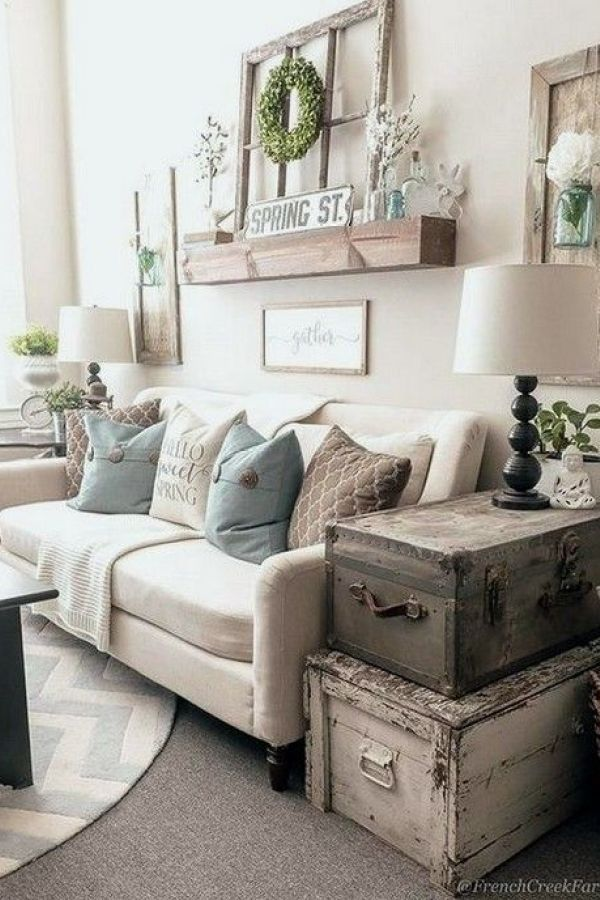 Awesome Rustic Farmhouse Living Room Decor Ideas 17 Farmhouse Decor Living Room Farm House Living Room Cottage Living Rooms