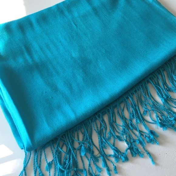 Turquoise pashmina shawl scarf Used once, in good condition! Accessories Scarves & Wraps
