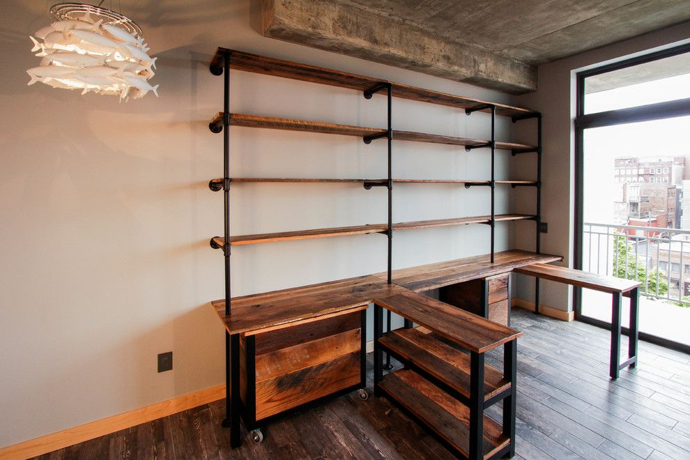 Startling Reclaimed Wood Desk decorating ideas for Home Office ...
