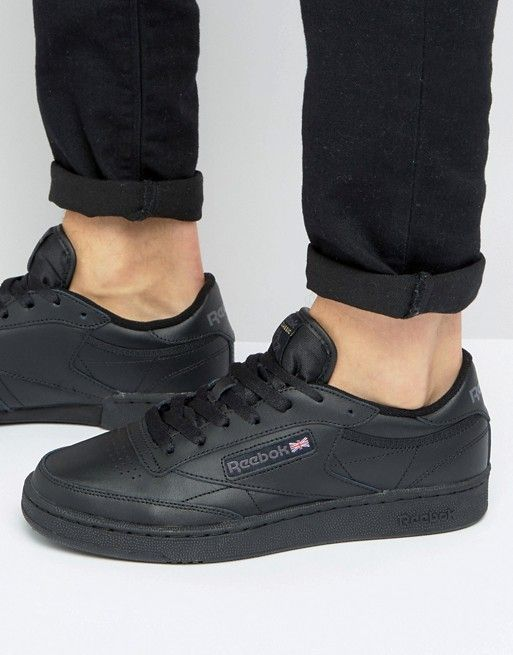 dfd55a0494 Reebok Club c leather sneakers in black ar0454 | Reebok Club C 85 ...