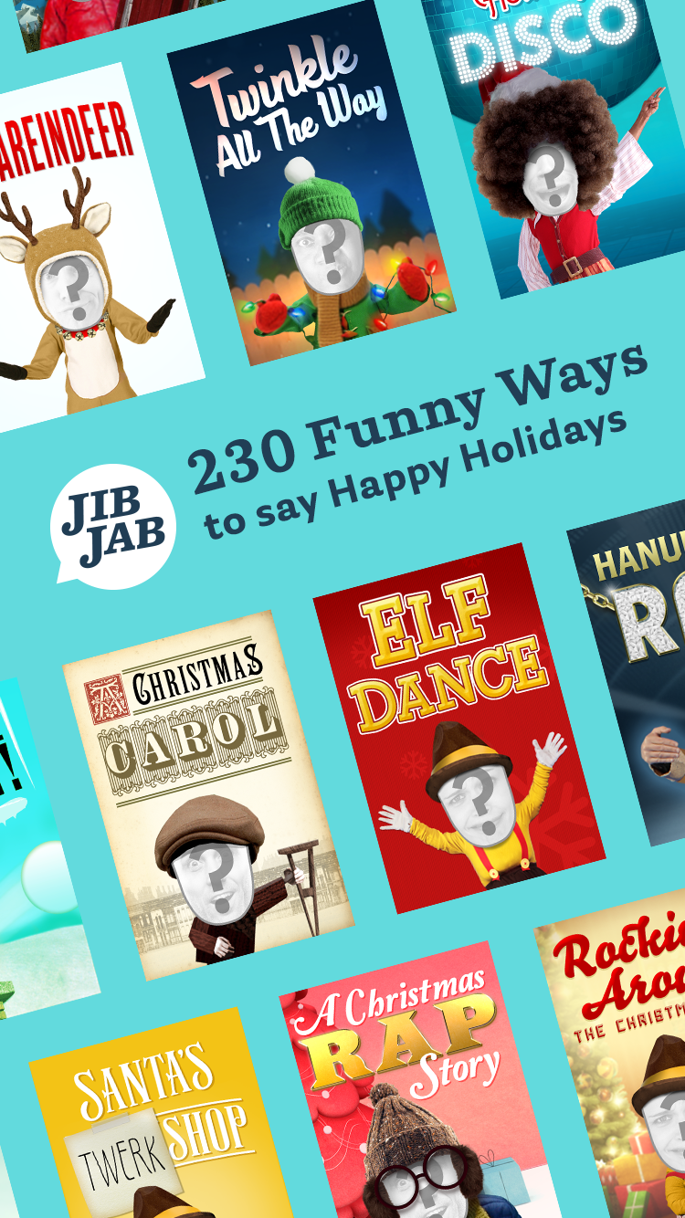 JibJab Holiday cards and videos are perfect for Christmas. Add your ...