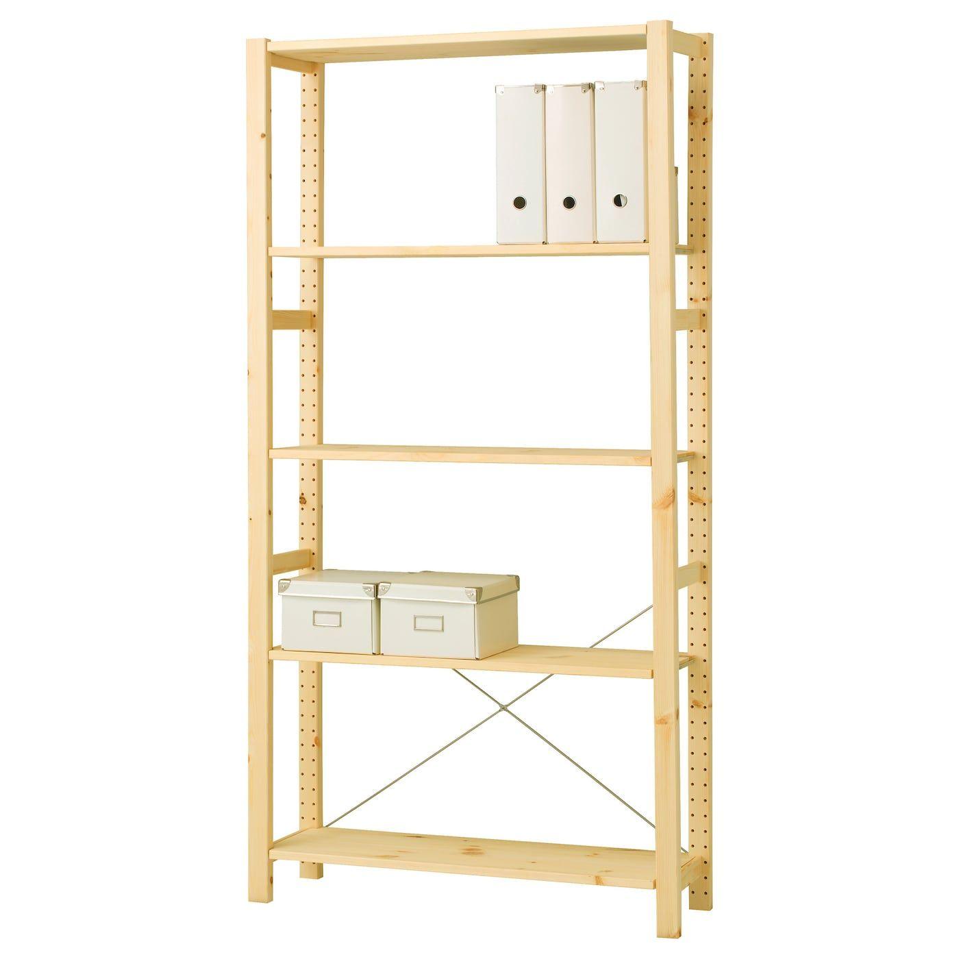Ikea Scaffali Legno Ivar ivar scaffale - pino 89x30x179 cm | etagere en pin, idées