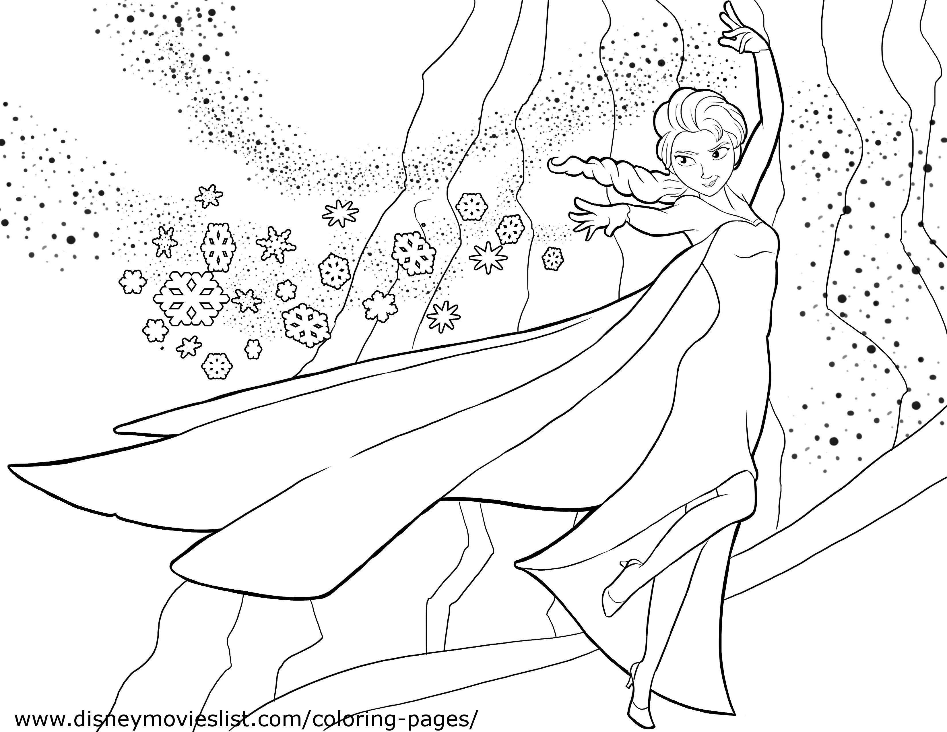 Elsa Frozen Coloring Pages Pdf