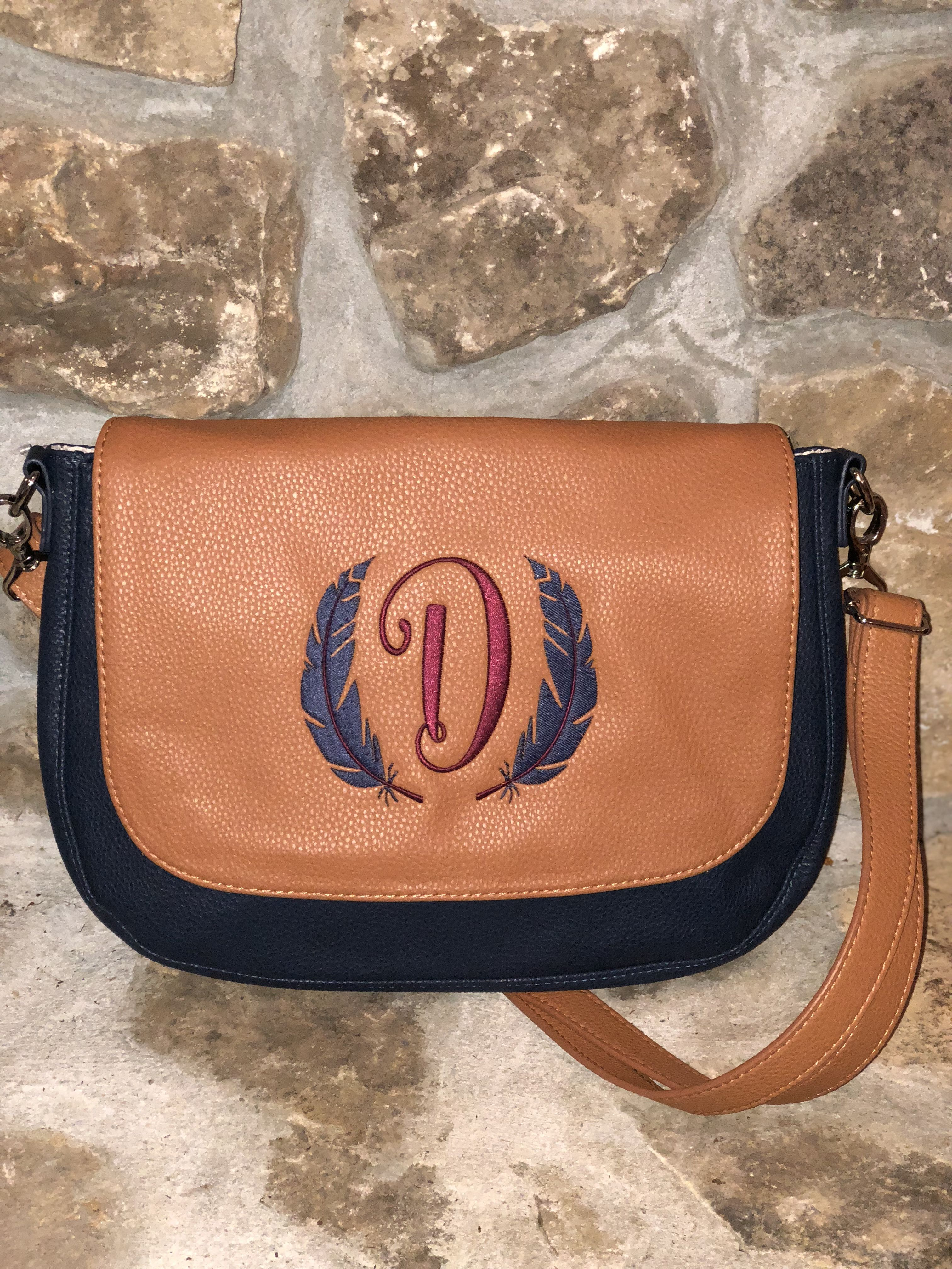 4bdd01b50 Studio Thirty-One Build your Own Bag-Classic! Navy base, Caramel Flap with  Navy and Merlot embroidery! Why you'll love it: Fashion a new look every  day with ...