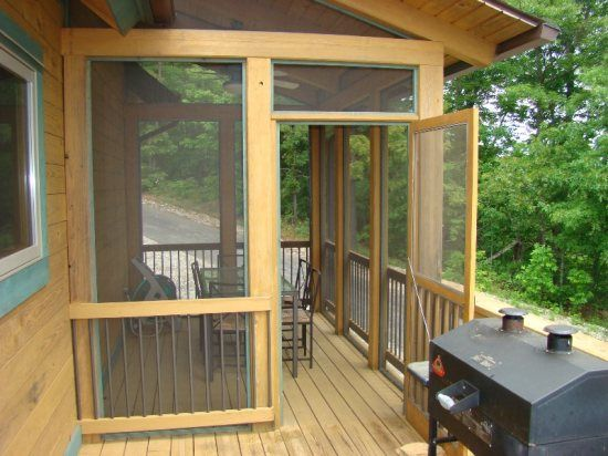 Screen porch addition cabins pinterest porch for Screen room addition plans