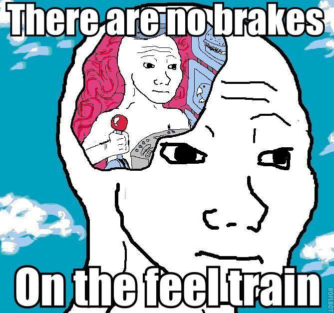 there are no brakes on the feel train... | Feels meme, Memes, Feelings