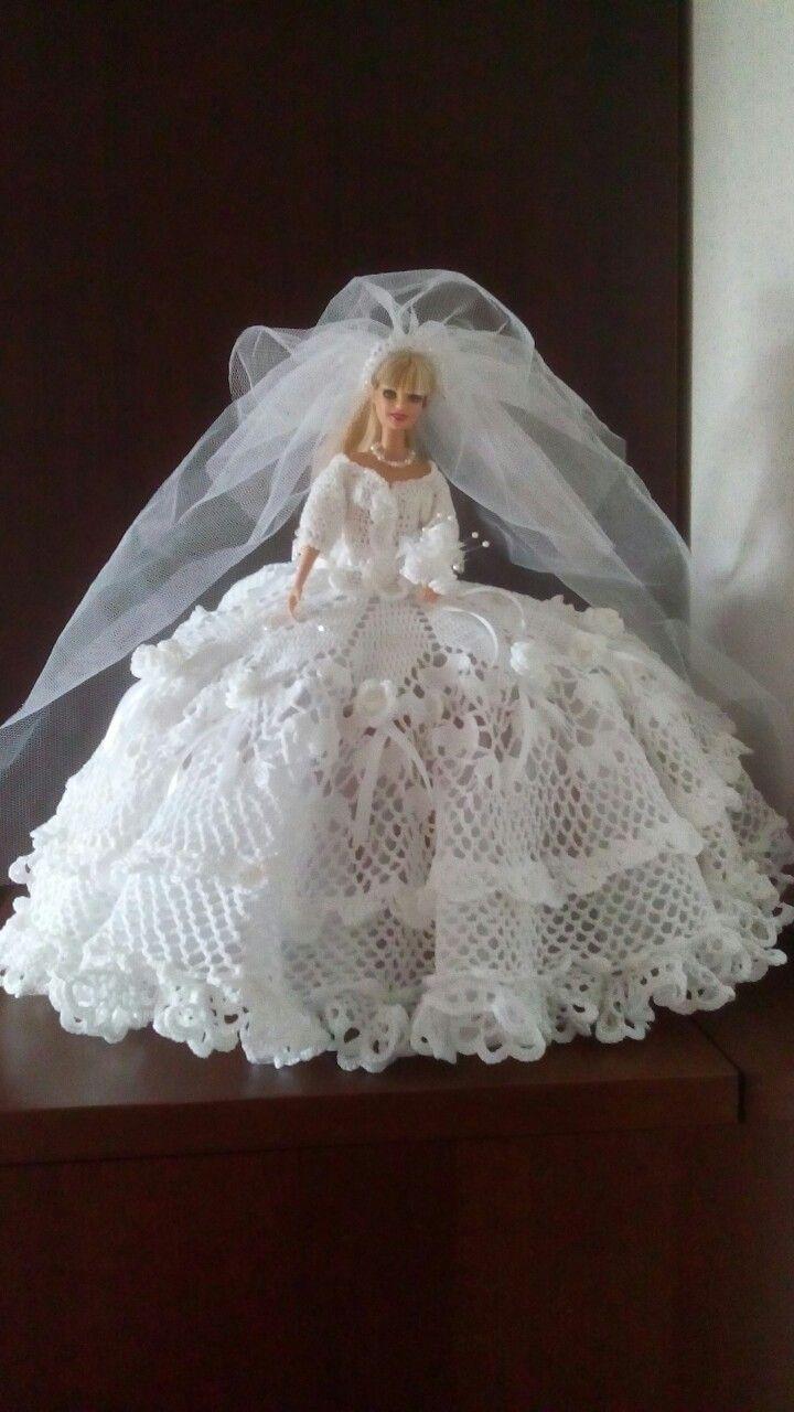 Robe de mariée pour Barbie au crochet ! |