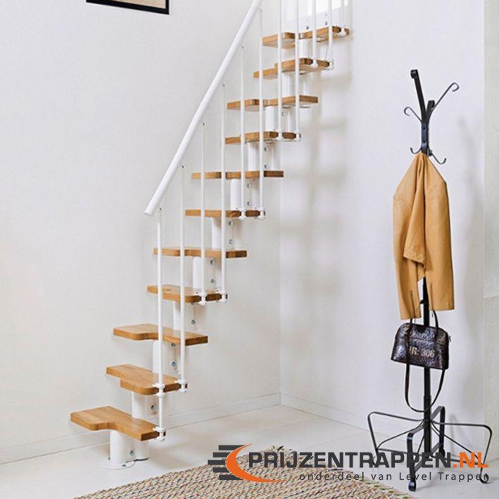 De oak 30 is een ruimte besparende trap met eiken houten for Hoeveel traptreden heeft een trap