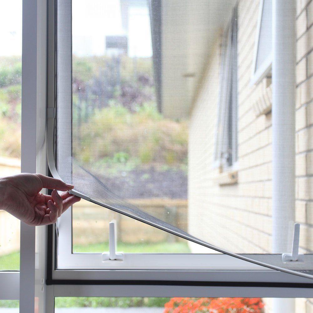 "Adjustable DIY Window Screen Max 55""H x 36""W Fits"