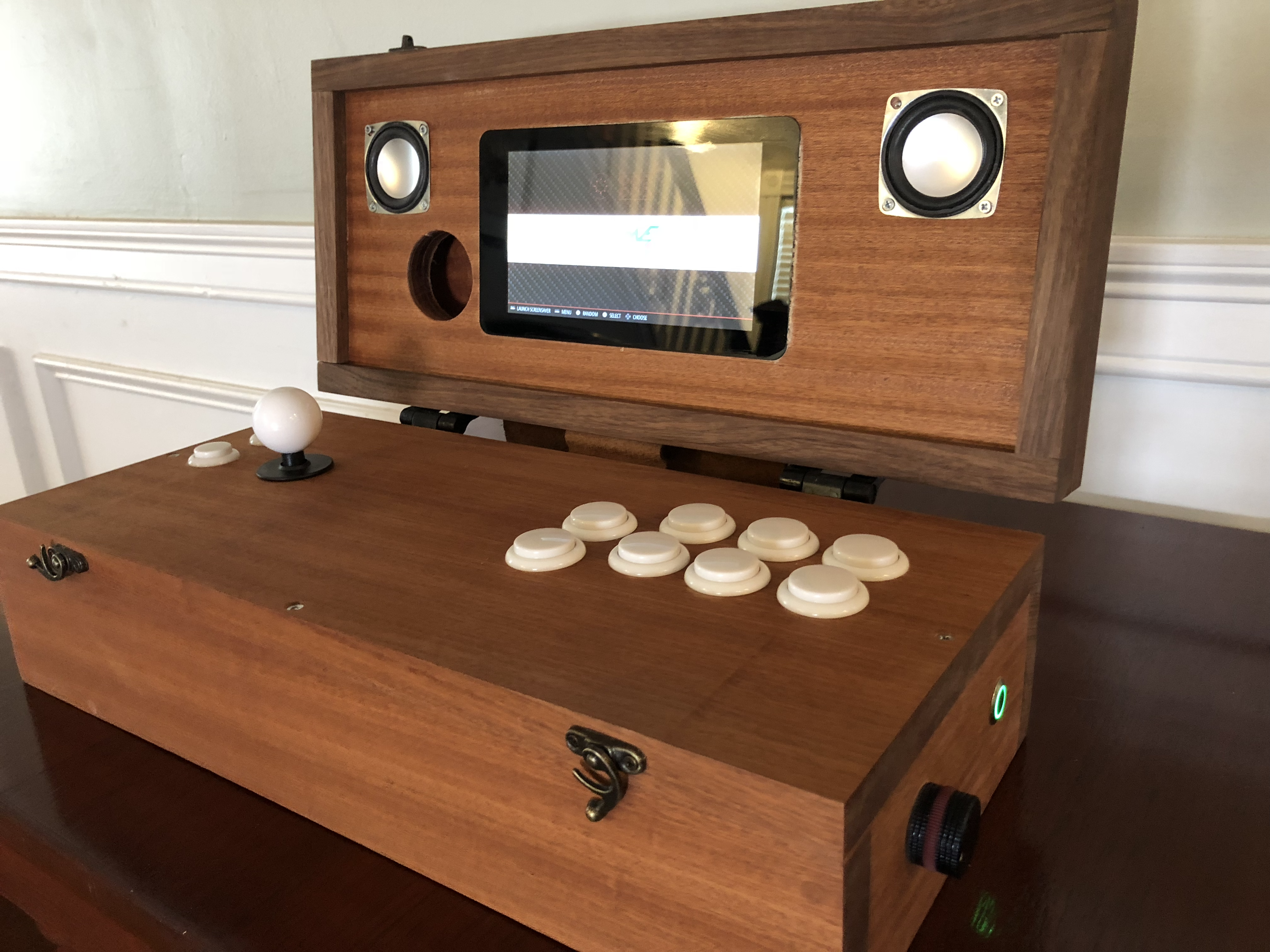 Mini wooden arcade box Arcade, Retropie arcade, Arcade stick