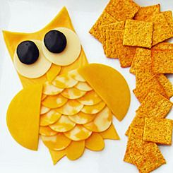 owl cheese plate