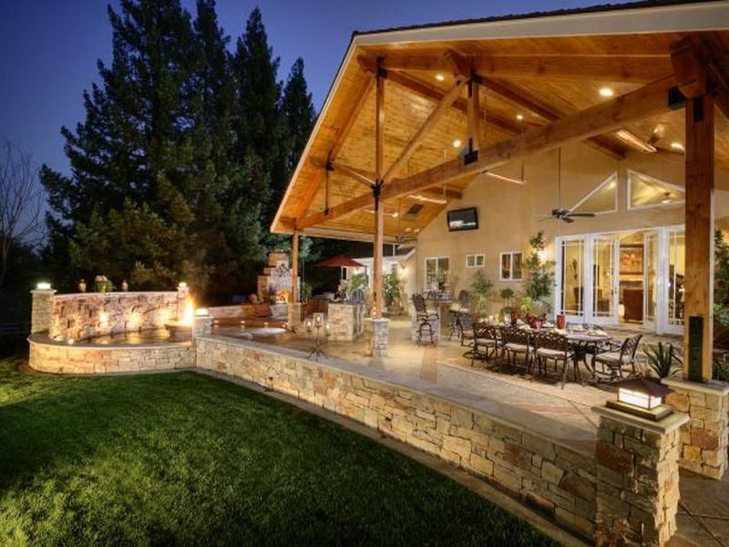 Step Covered Outdoor Living Space new house Pinterest