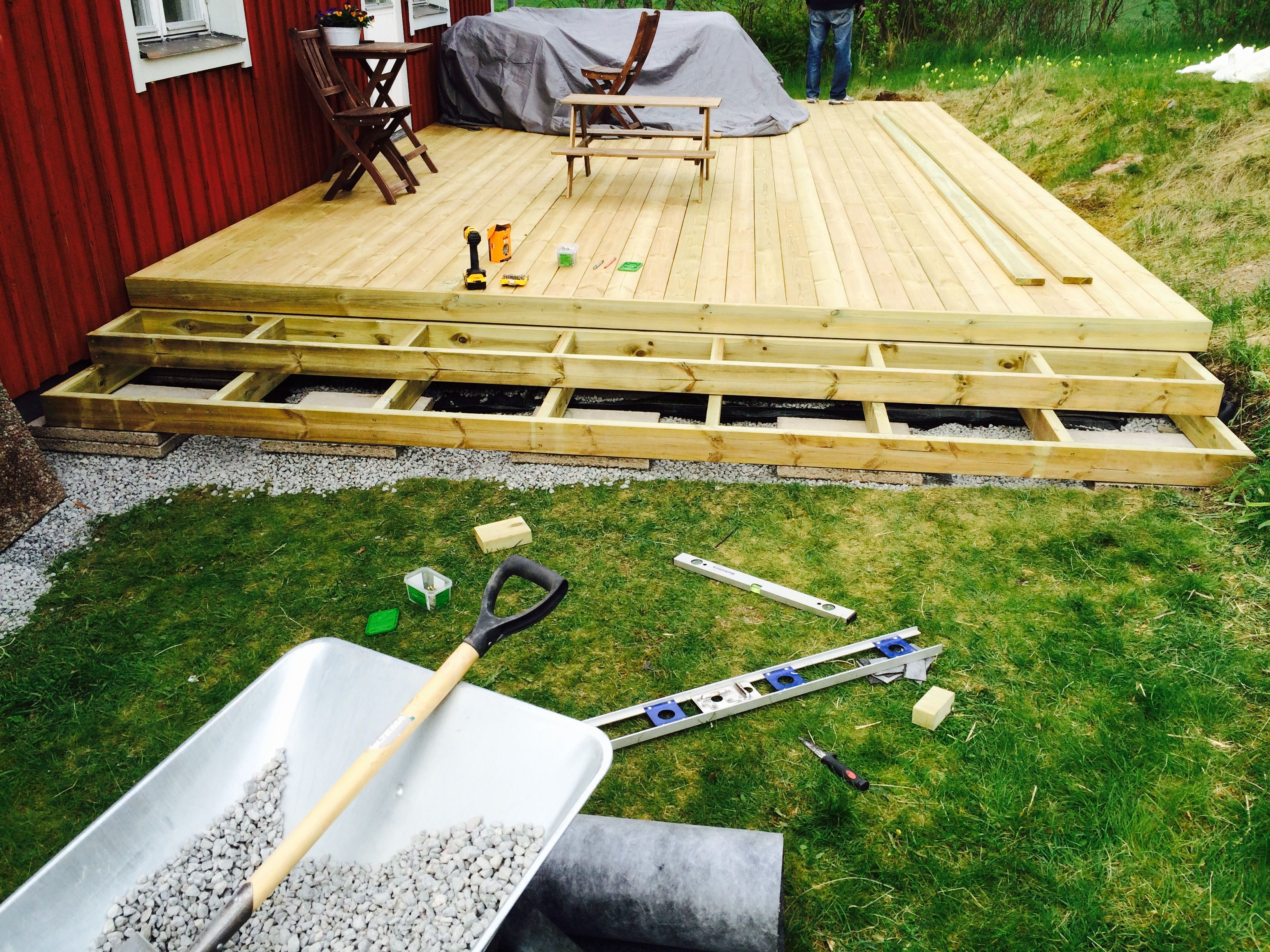 Bygga trappa till altan   Altantrappa   Pinterest   Ute, Bench and ...