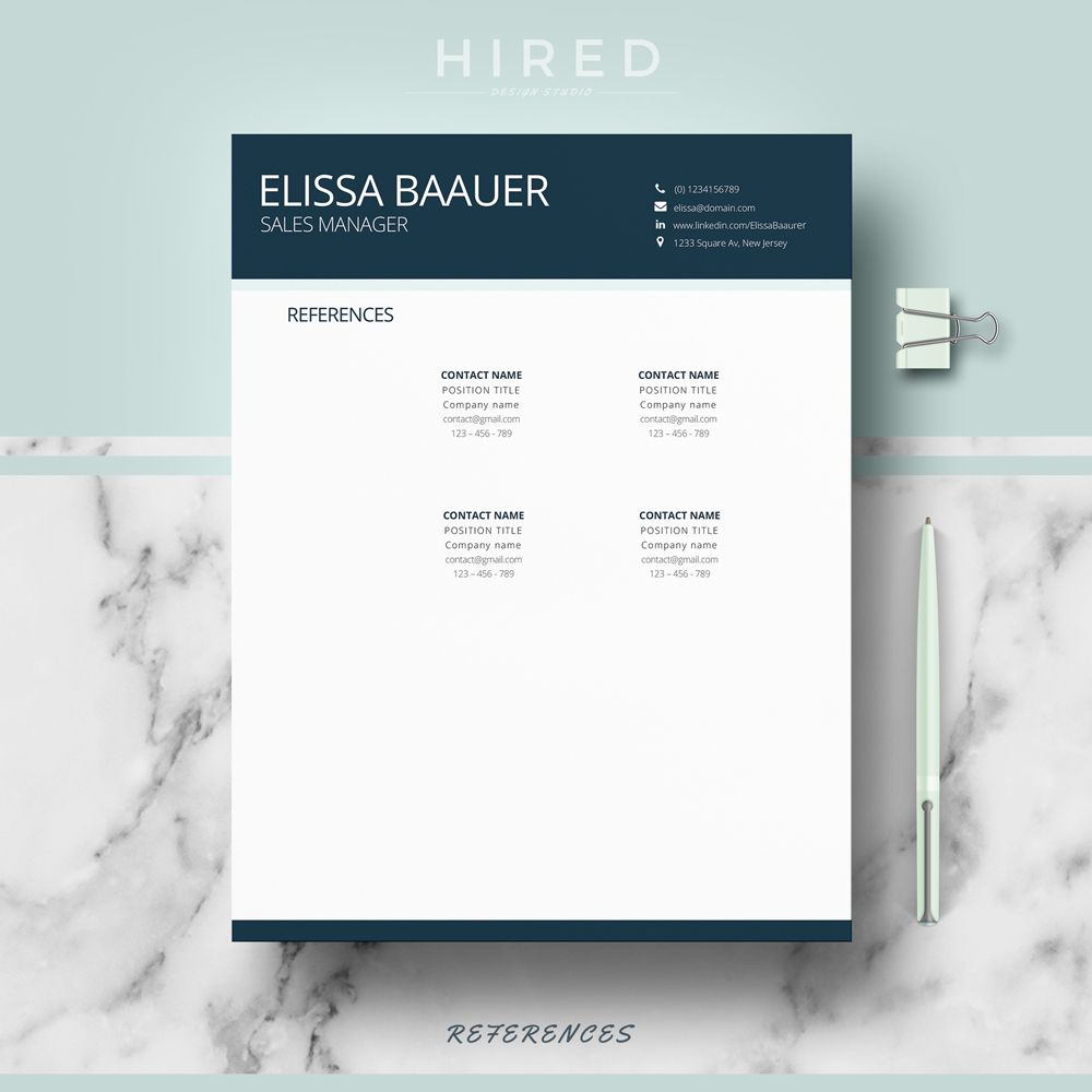 pin by hired design studio on references resume page