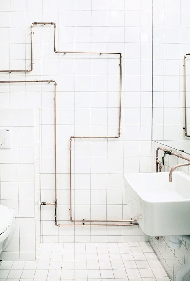 creative ways to hide exposed plumbing pipework in 2020 on clever small apartment living organization bathroom ideas unique methods for an organized bathroom id=15861