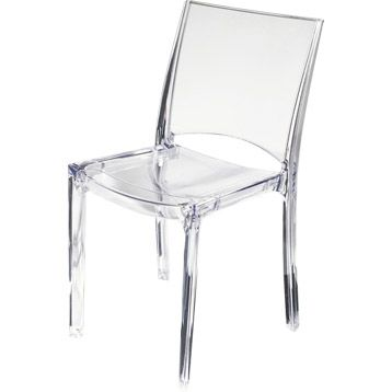 Chaise de jardin paris lux en polycarbonate couleur transparent design p - Chaise jardin couleur ...