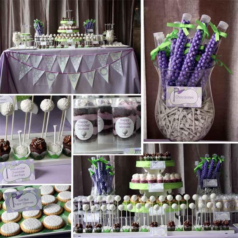 Amazing Golf Themed Dessert Tables Bella Baker Wedding Food Home Interior And Landscaping Pimpapssignezvosmurscom