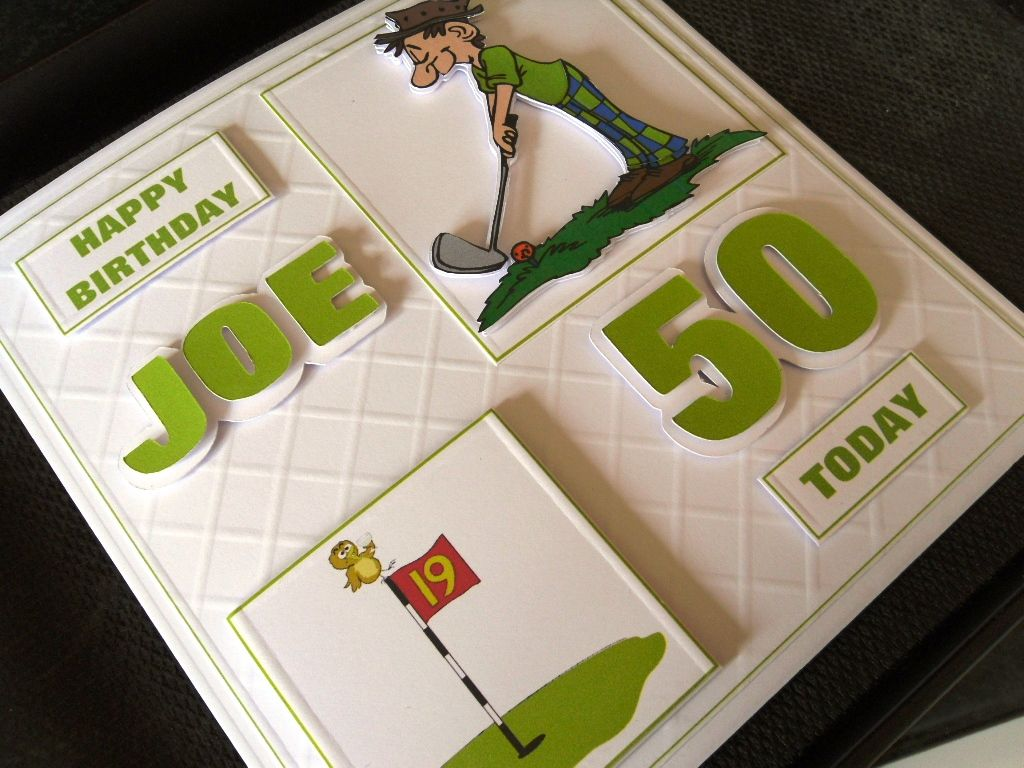 Th birthday card for a keen golfer who likes a drink male cards