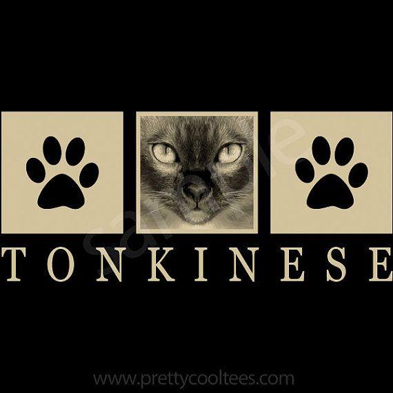 Tonkinese Cat Portrait TShirt Tee Men's Ladies by